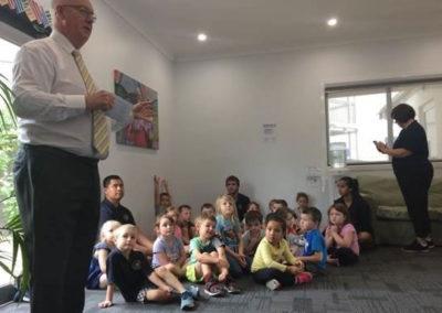 Bathurst Mayor Graham Hangar at Jenny's Kindergarten