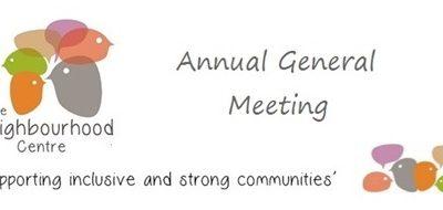 The Neighbourhood Centre AGM: 21/10/2021