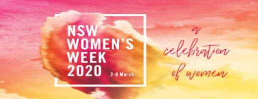 NSW Women's Week 2020: 2nd March – 8th March.