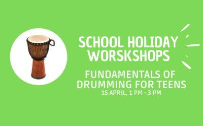 School Holiday Workshop: Fundamentals of drumming for teens. 15/04/2021.