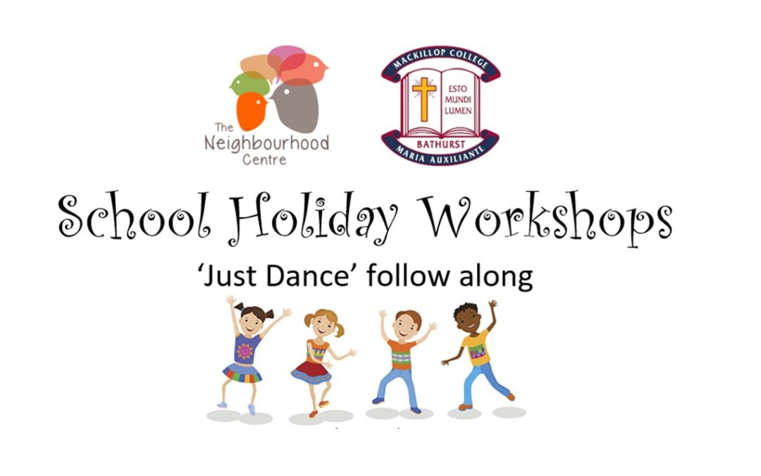School Holiday Workshops – 'Just Dance' Follow Along by  J. Nunan (Ages 3-11 years old)